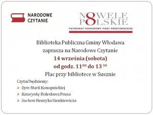 Narodowe Czytanie plakat